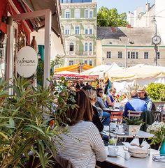 Cafemima - Schanigarten (c) STADTBEKANNT - Das Wiener Online Magazin Online Magazine, Heart Of Europe, Homeland, Vienna, Austria, Street View, Inspiration, Travel, Horticulture