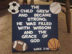 for my nephew's sport themed nursery!