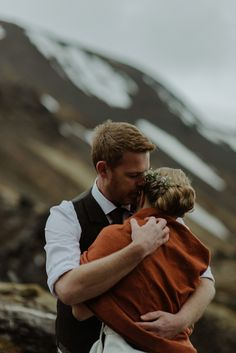 A wild and natural destination wedding in Iceland. Images by Kitchener Photography.