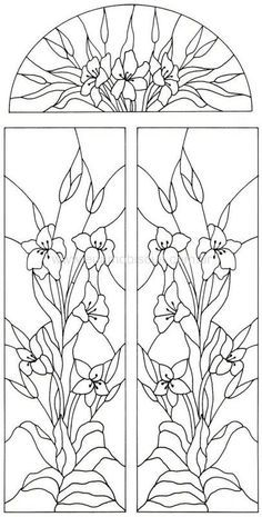 Victorian Stained Glass Designs Welcome to Dover Publications Stained Glass Flowers, Faux Stained Glass, Stained Glass Designs, Stained Glass Projects, Stained Glass Patterns, Mosaic Patterns, Stained Glass Windows, Window Glass, Flower Patterns