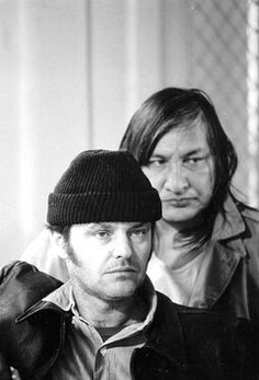 Jack Nicholson and Will Sampson behind the scenes of One Flew Over the Cuckoo's Nest