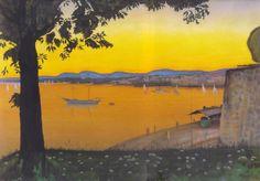 Oslo from Akershus  -   Harald Oskar Sohlberg  c. 1900  Norwegian 1869-1935
