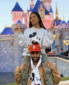 Jhene Aiko and Big Sean at Disneyland Black Relationship Goals, Couple Goals Relationships, Freaky Relationship, Black Couples Goals, Cute Couples Goals, The Weeknd, Mantra, Big Sean And Jhene, Rihanna