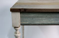 New Orleans Reclaimed Wood Table - Eco Friendly Furniture. $215.00, via Etsy.