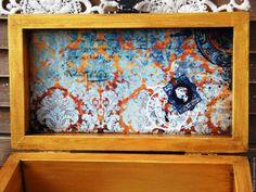 Купить Купюрница шкатулка для денег деревянная Mon plaisir. Декупаж - бирюзовый, мятный, шкатулка