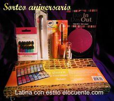 Aniversario de LATINA CON ESTILO ELOCUENTE.com  con sorteo de maquillaje $20 hasta el 7 Junio!