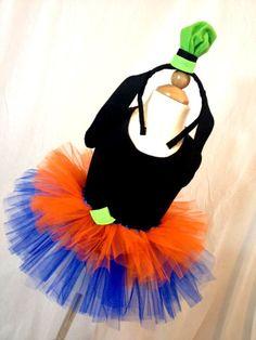 Goofy Inspired Tutu, Moisture Wicking/Cotton Tank and Headband Tutu Costumes Kids, Goofy Costume, Run Disney Costumes, Running Costumes, Diy Costumes, Halloween Costumes, Costume Ideas, Scarecrow Costume, Disney Tutu