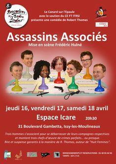 Assassins Associés par la troupe du Canard sur l'Epaule au 8ème Festival de Théâtre Amateur d'Issy les Moulineaux (2015)