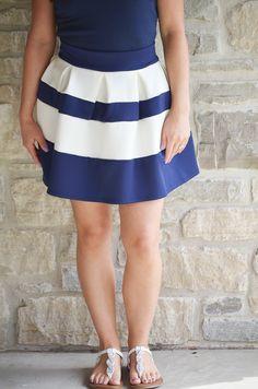 Oakleigh Rose - Twirls Stiped Mini Skirt, $41.00 (http://www.oakleighrosestyle.com/twirls-stiped-mini-skirt/)