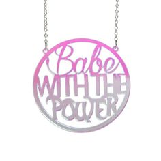 You remind me of the babe! What babe? The babe with the power! Everyone loves Labyrinth, so celebrate it with this iridescent, semi translucent necklace! It measures round and is laser cut from acrylic and strung between an 18 plated chain. Acrylic Photo, Laser Cut Acrylic, Laser Cutting, Iridescent, Babe, Silver, Etsy, Window Shopping, Chains
