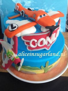 One of our Disney's 'Planes' cakes featuring the main hero, Dusty!