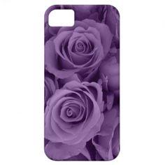 purple roses iPhone 5 cases
