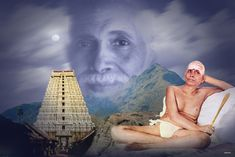 """Sri Ramana Maharshi--""""Do not meditate----Be. Do not think that you are----Be.---Don't think about being----you are"""" Shiva, Freud Psychology, Spiritual Pictures, Advaita Vedanta, Yoga Master, Ramana Maharshi, Beautiful Collage, Today In History, Spirituality Books"""