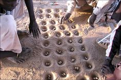 Mancala - I have this idea to put a mancala board in wet cement outside somewhere in our next house...