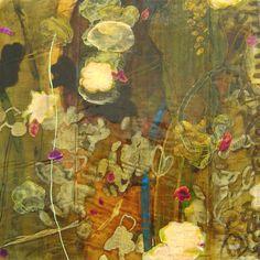 "Leslie Kenneth Price ""Peeking Out"", 16x16, 2006, Garden Series http://lesliekennethprice.com/"