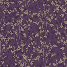 Purple statement wall paper by Graham & Brown