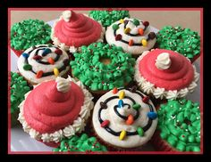 Christmas cupcakes! #baking #cooking #food #recipes #cake #desserts #win #cookies #recipe #cakes #cupcakes