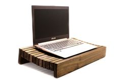 Wood Laptop Stand Laptop Holder Lap Tray Lap Desk Mens Gift Tech Gift Present Christmas Gift Ideas For Men For Him For Her Table Accent Ipad Air Stand, Tablet Stand, Wooden Laptop Stand, Portable Desk, Serving Table, Lap Tray, Lap Desk, Cool Technology, Tech Gifts