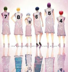 Kuroko no Basuke, The Basketball which Kuroko Plays, Generation of Miracle, Kiseki no Sedai, Midorima, Kise, Kuroko, Aomine, Murasakibara, Akashi