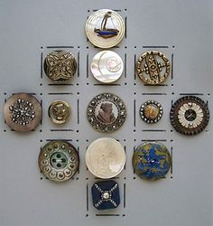 Antique Mother of Pearl Buttons  I want these!