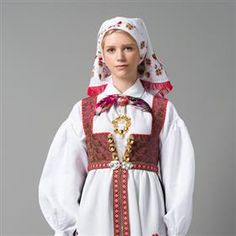 Bunad from Aust-Agder, Norway Folk Costume, Costumes, Medieval Dress, Bridal Crown, Looking For Someone, Traditional Dresses, Mittens, Norway, Custom Made