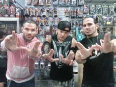 All 3 HARDY BOYZ!!!! Matt and Jeff with one of their biggest fans they consider a Hardy Boy :)