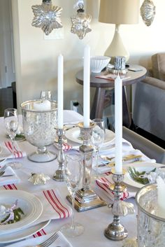 A Christmas Table setting