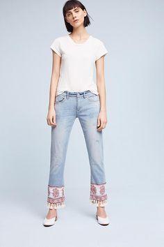 Slide View: 1: Pilcro Hyphen Mid-Rise Boyfriend Jeans