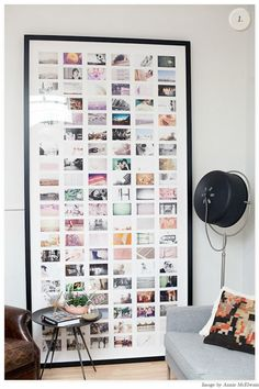 Modern Girl Style. Great idea for all those photos that never see the light of day.