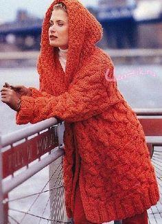 Вязание бесплатные схемы - вязаные пальто | Узорчик.ру
