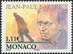 Literary Stamps: Sartre, Jean-Paul (1905–1980)