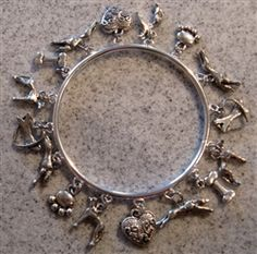 Greyhound charm bracelet.