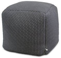 Urban Legacy Crocheted/Knitted Ottoman Pouf Cotton Handmade Square Beautiful Soft and Lightweight Available in Four Colors) Knitted Pouf, Pouf Ottoman, Ottoman Furniture, Upholstered Storage Bench, Furniture Ideas, Leather Pouf, Leather Ottoman, Crochet Pouf