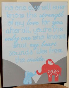 Mother/Son Elephant Quote by LucyBelleCrafts on Etsy, $50.00