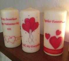 Valentines Candles por WaxBeautiful en Etsy