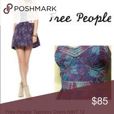 Free People Tapestry Dress Free People Tapestry dress. Never worn NWT. This is the blue version of the Dress worn by Elena Gilbert. Paid $118 for this dress never wore it since the color is awful on me.  Katherine Pierce Nina Dobrev The Vampire Diaries Free People Dresses Mini