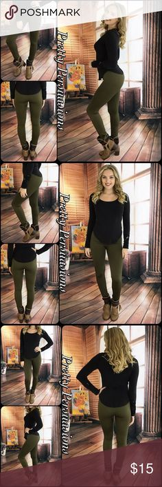 NWT Khaki Fleece Lined Soft Full Length Leggings NWT Fleece Lined Soft & Stretchy Full Length Leggings  Size: One Size   Available in Black, Olive, Chocolate, Burgundy, Navy, Charcoal Gray & Khaki   Lowest Price Up Front  Bundle discounts available  No pp or trades  Item # 1/101280150FLL leggings Pretty Persuasions Pants Leggings