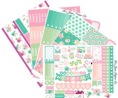 Summer Blossom Collection (Planner Stickers)