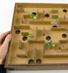 DIY Board game marble labyrinth from cardboard  // Golyó labirintus karton papírból - kreatív játék gyerekeknek // Mindy - craft tutorial collection // #crafts #DIY #craftTutorial #tutorial #KidsCrafts #CraftsForKids #KreatívÖtletekGyerekeknek