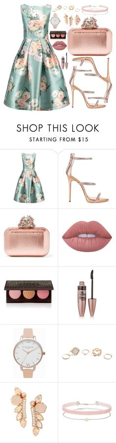 """""""Untitled #1099"""" by maria-canas ❤ liked on Polyvore featuring Giuseppe Zanotti, Jimmy Choo, Lime Crime, Becca, Maybelline, Olivia Burton, GUESS, Kendra Scott and Miss Selfridge"""