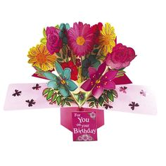 Birthday Flowers For You Pop-Up Greeting Card Birthday Table, It's Your Birthday, Special Birthday, Birthday Cards, Pop Up Greeting Cards, Pop Up Cards, Nature 3d, Flowers For You, Party Shop