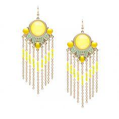 lemon hued drop earrings