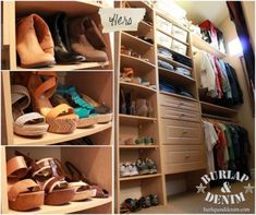 From Blah to Boutique {Organizing a Master Closet}