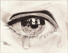 Disegni A Matita Tristi Art Art Art Drawings E Eye Art