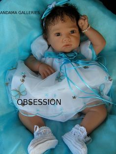 My OBSESSION is the most stunning reborn baby created by reborn doll master artist Andama Dujon using a limited edition sculpt Porsha by Romie Strydom number 488/800.
