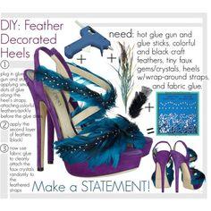 Las etiquetas más populares para esta imagen incluyen: heels, shoes, fashion, feather y tutorial