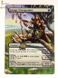 Joraga Treespeaker - Extended MTG Alter - Revelen's Light Altered Art Magic Card #WizardsoftheCoast