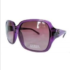 Guess GU 7049 Pur-58 Purple Sunglasses Purple Lens STYLE: Guess GU 7049 Pur-58   COLOR: Transparent Purple/Purple Gradient Lens  ORIGIN: China  SIZE: 60mm X 17mm X 135mm  GENDER: Women  THESE SUNGLASSES ARE BRAND NEW AND 100% AUTHENTIC OR YOUR MONEY BACK GUARANTEED!! THIS WILL COME IN ITS ORIGINAL CASE AND CLOTH. IF YOU HAVE ANY QUESTIONS OR INQUIRIES OF ANY SORT, DON'T HESITATE TO MESSAGE ME. Guess Accessories Sunglasses