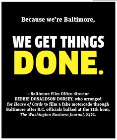 Baltimore magazine. The Buzz. October 2013 issue.