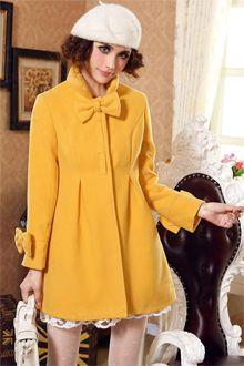 Korean Fashion Cute Doll Style Woolen Coat